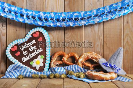bavarian gingerbread heart with pretzels