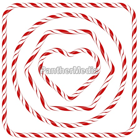 set of candy frames isolated on