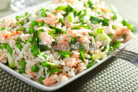rice salad with salmon rice salad