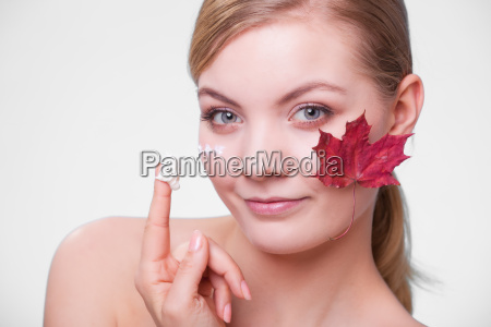 skin care face of young woman
