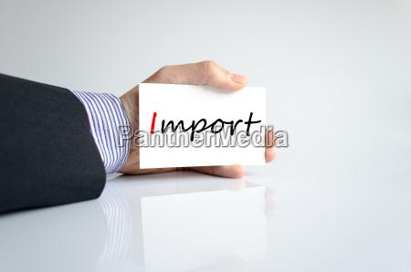 import text concept