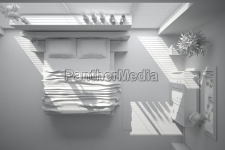 3d interior rendering of a modern