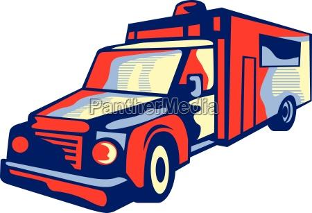 ambulance emergency vehicle retro