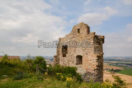 the desenberg with castle ruins near