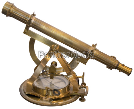 old brass sextant cutout