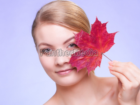 skin care portrait of young woman