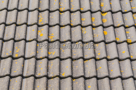 weathered roof tiles