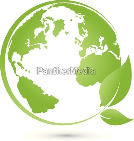 logo earth globe world globe vector