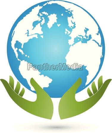 earth and hands globe world globe