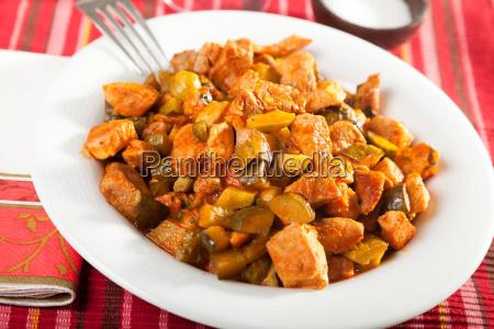 pork and vegetables stew pork and