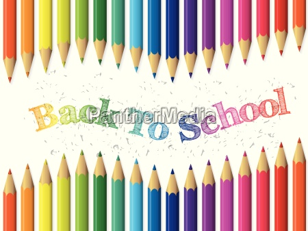 back to school background with pencils
