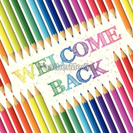 back to school background with welcome