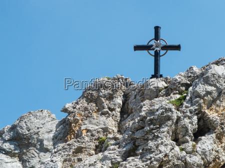 cross on the mountain peak