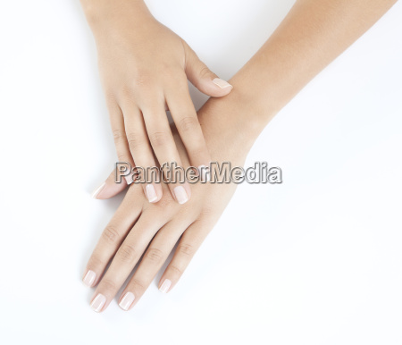 groomed woman hands