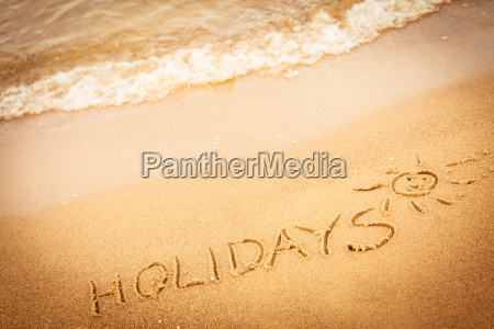 the word holidays written in the