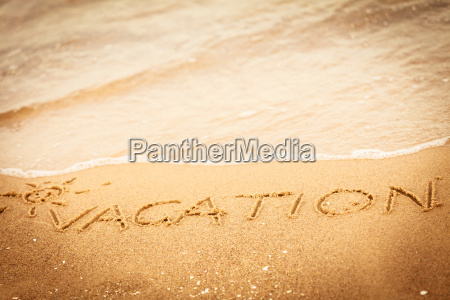 the vacation word written in the