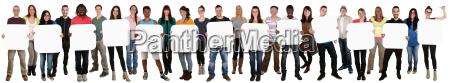 gruppe junge leute people halten textfreiraum