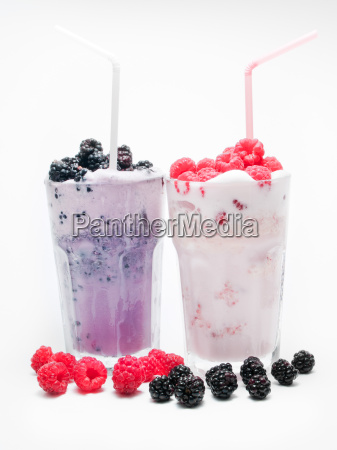 blackberry and raspberry milkshakes blackberry and