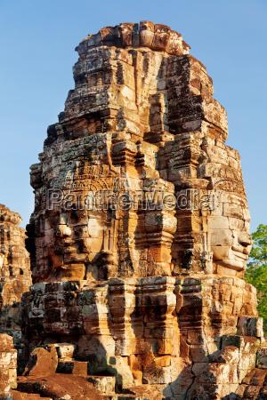 bayon temple in angkor wat cambodia
