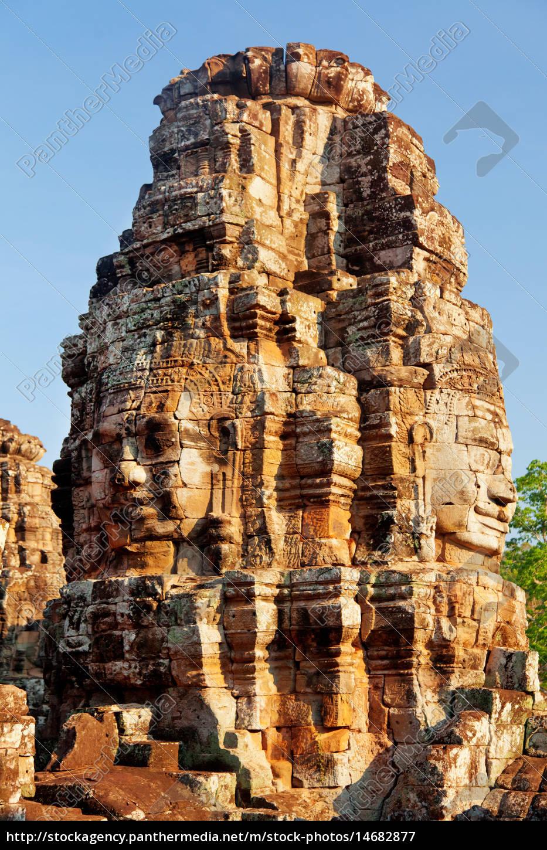 bayon, temple, in, angkor, wat, , cambodia, bayon - 14682877