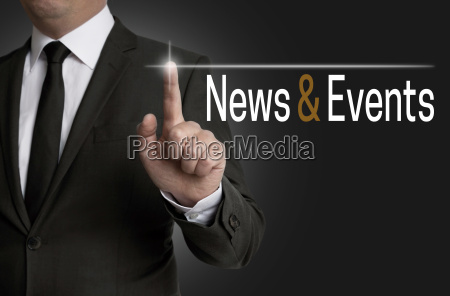 news and events touchscreen is operated