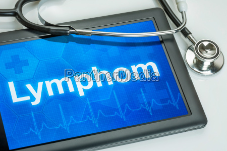 tablet diagnosed lymphon on display