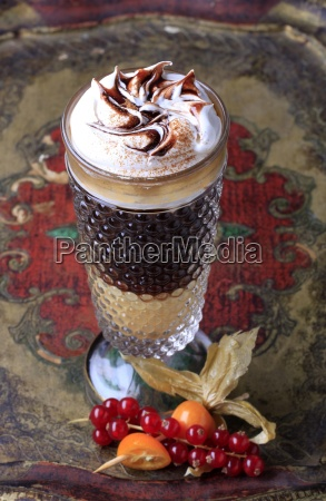 liqueur coffee with whipped cream