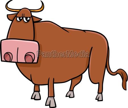bull farm animal cartoon