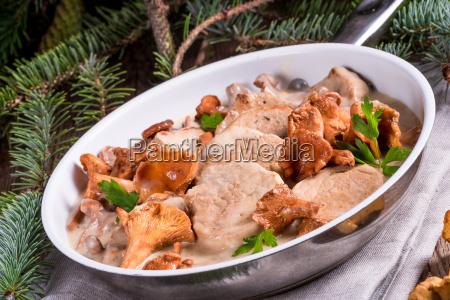 pork tenderloin with chanterelle sauce