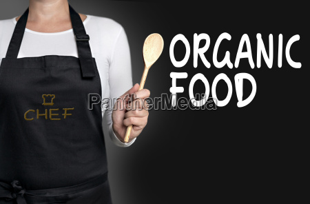 organic food cook keeps cooking spoon