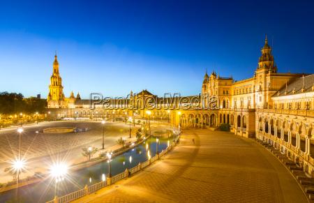 espana plaza in sevilla spain at