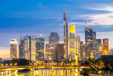 frankfurt skylines at disk