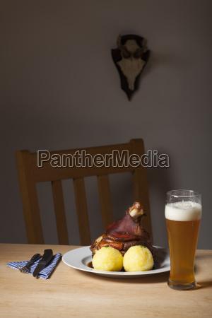 bavarian pork on a table