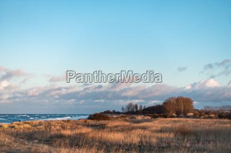 view of the baltic sea coast