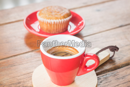 banana cup cake and espresso