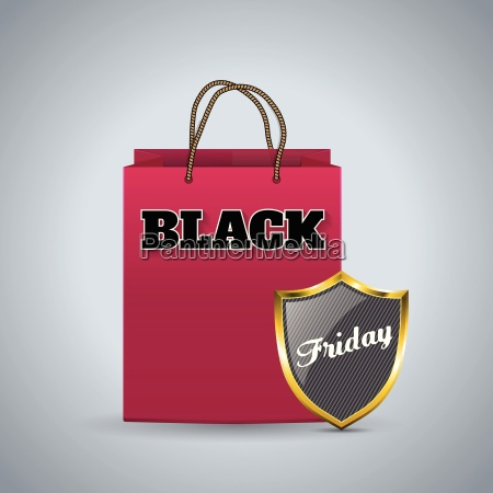 black friday advertising background with shopping