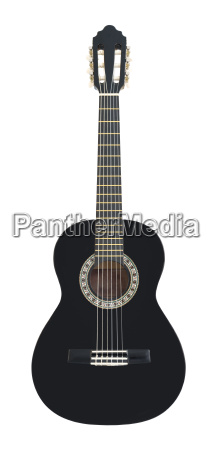 classical acoustic guitar isolated on a