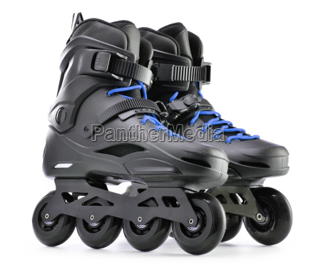 pair of inline skates isolated on