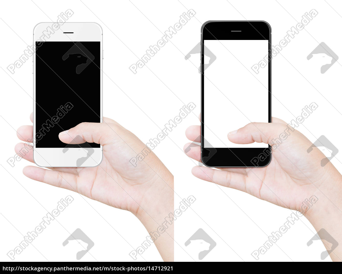 hand, holding, phone, clipping, path, isolated - 14712921