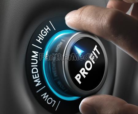 profit finance concept