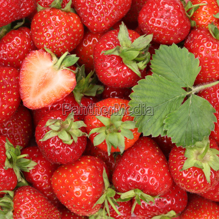 strawberries red berries fruits background