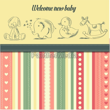 new baby announcement card with