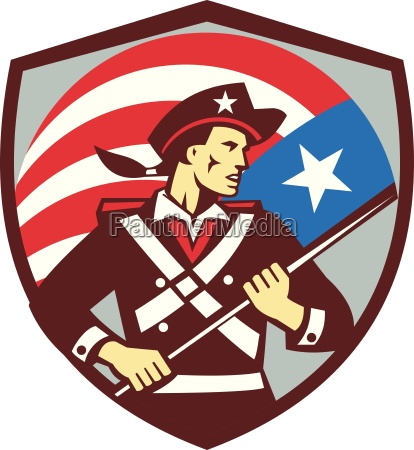 american patriot holding brandish usa flag