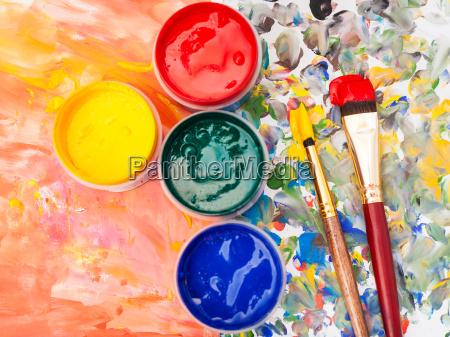 still life watercolor palette paint