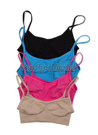 four colored cotton bra