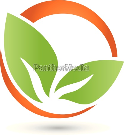two leaves logo plant naturopaths