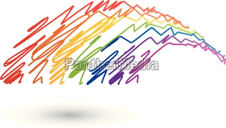 rainbow logo colored spectrum