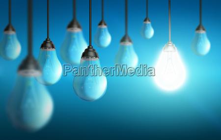 colorful lightbulb
