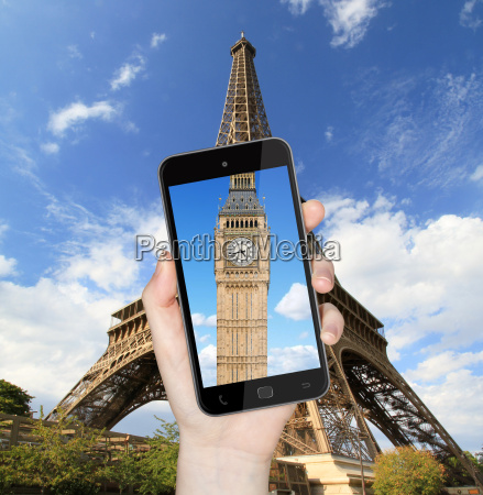 eiffel tower and big ben