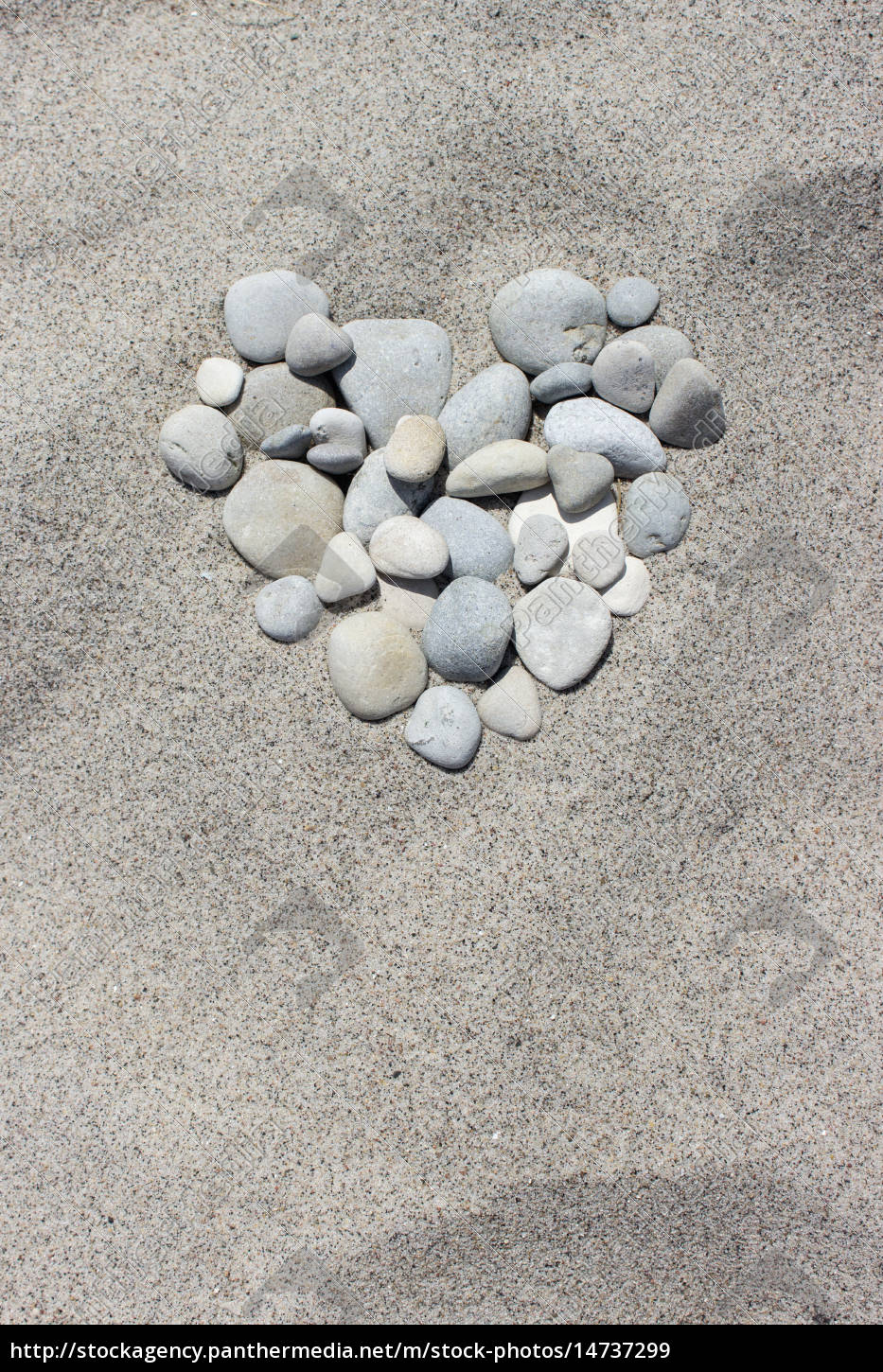 heart, of, pebbles, in, the, sand - 14737299